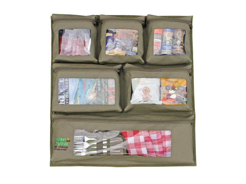 Camping Kitchen Organiser Deluxe CCB005-A Camp Cover Khaki Ripstop